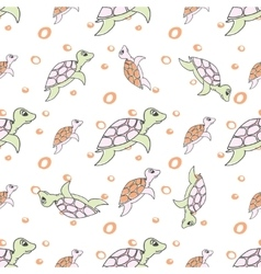 Turtles in cartoon style vector