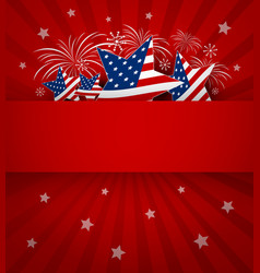 usa background design of 4 july independence day vector image