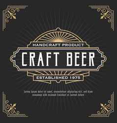 Vintage line frame design for label banner vector