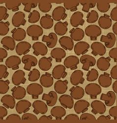 vintage seamless texture with agaricus for your vector image vector image