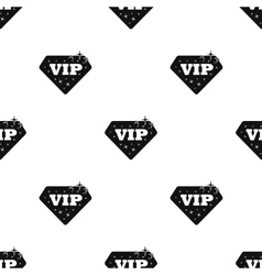VIP icon in black style isolated on white vector image