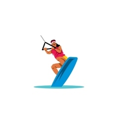 Wakeboarding sign vector image vector image