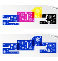 stylized numbers 2013 with snowflakes vector image
