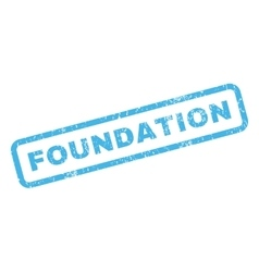 Foundation rubber stamp vector