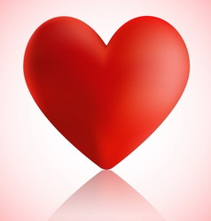 Big red heart with reflection vector