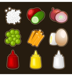 Food products icon set vector image
