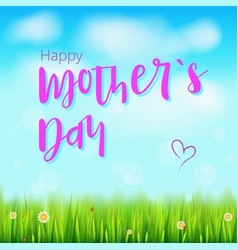 Happy mother day realistic greeting banner for vector