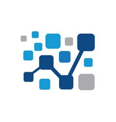 Financial chart square logo image vector