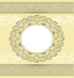 template for the greeting cards vector image