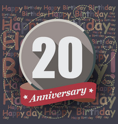20 happy birthday background or card vector