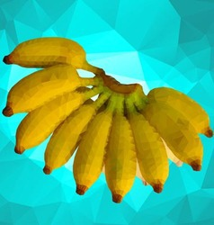 Fruit banana polygon vector