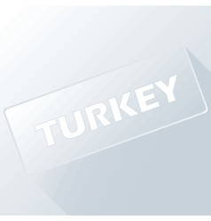 Turkey unique button vector