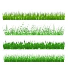 Green grass and field patterns vector