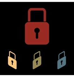 Lock sign icon vector