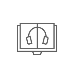 Audiobook line icon vector