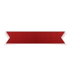 Greeting red festive paper ribbon vector