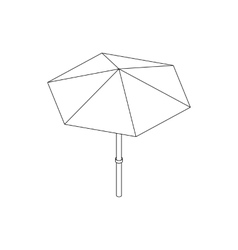 Beach umbrella icon isometric 3d style vector