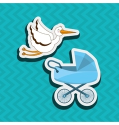Baby shower icon design vector
