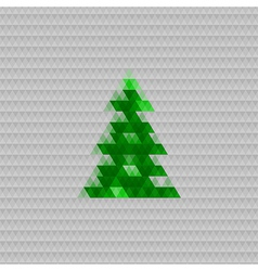 Abstract christmas tree background triangle vector