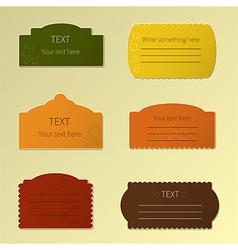 Autumn labels vector image