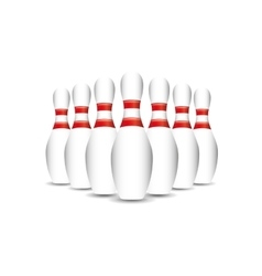 bowling sport design vector image