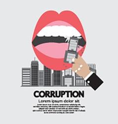 Building was eaten corruption concept vector