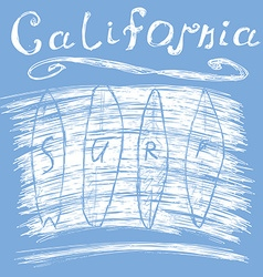 California surf typography t-shirt Printing design vector image vector image