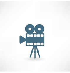 Cinema camera icon vector image vector image
