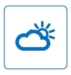 Cloud sun icon vector