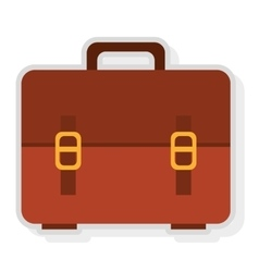 colorful suitcase bag graphic vector image