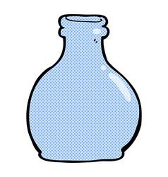 Comic cartoon old glass vase vector