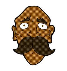 comic cartoon sad old man vector image