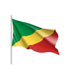 Congo realistic flag vector