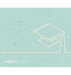 Creative academic cap art vector