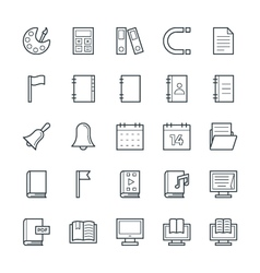 Education cool icons 2 vector