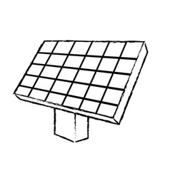 Figure solar energy element to ecologycal care vector