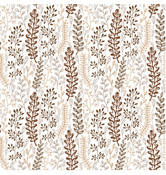 floral seamless pattern with ornamental stylized vector image