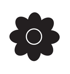 flower icon on white background flower sign vector image vector image