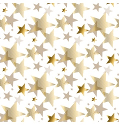 Gold star luxury pastel color seamless pattern vector