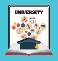 Graduation and University design vector image