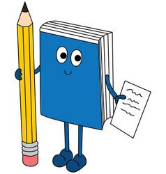 happy books vector image