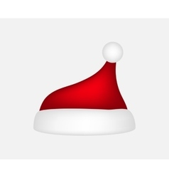 Hat of santa claus on a white background vector