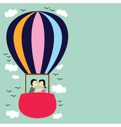 Kiss on the balloon vector image