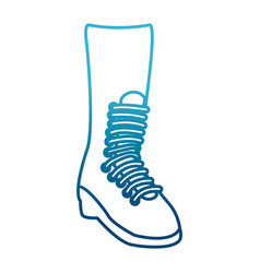 Military boot isolated vector