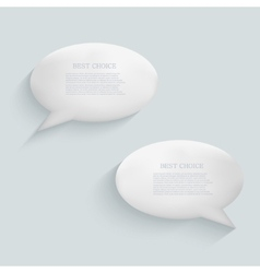 modern bubble speech background Eps 10 vector image