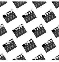 movie clap pattern vector image