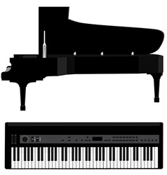 Piano and synthesizer vector image vector image