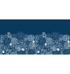 Purple lace flowers horizontal seamless pattern vector image