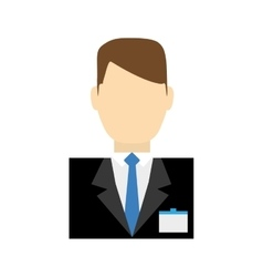 Receptionist male suit hotel service icon vector