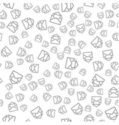 seamless pattern with mail envelopes vector image vector image
